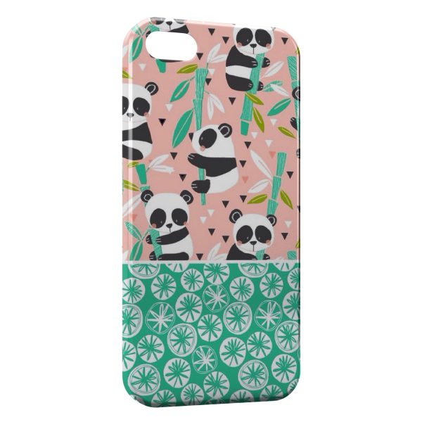 Coque iPhone 7 & 7 Plus Panda Cartoon