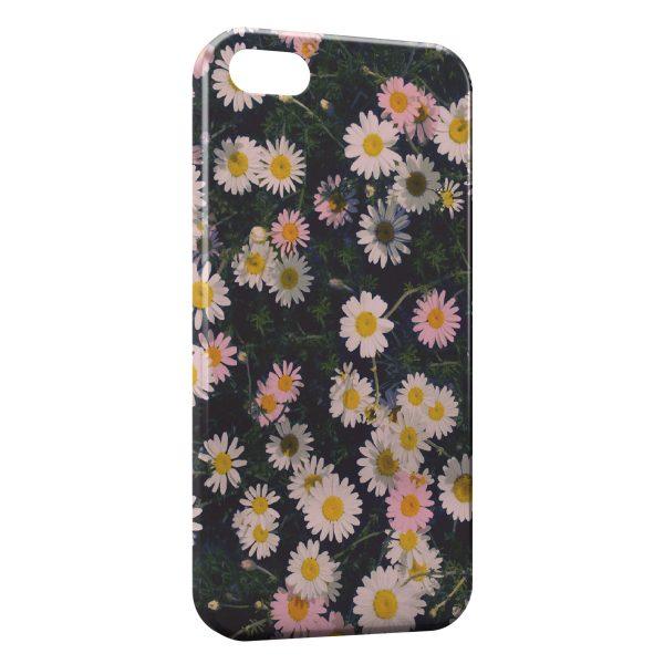Coque iPhone 7 7 Plus Paquerettes Fleur Vintage 600x600