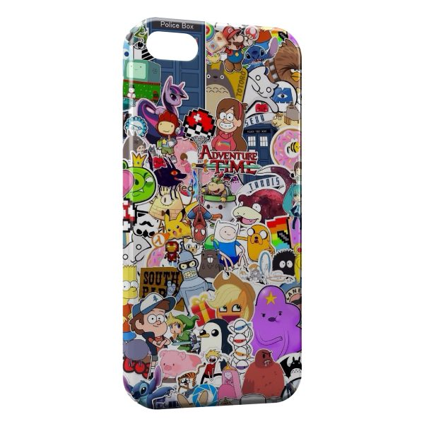 Coque iPhone 7 & 7 Plus Personnages Manga Cartoon Web Youtube