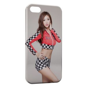 Coque iPhone 7 & 7 Plus Sexy Girl Racing tunning voiture