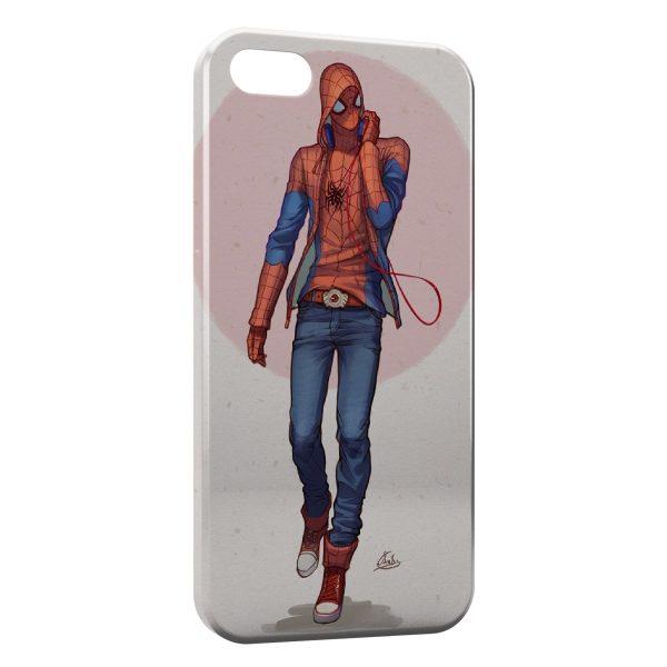 Coque iPhone 7 & 7 Plus SpiderMan Design Art