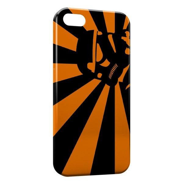 Coque iPhone 7 & 7 Plus Stormtrooper Star Wars Orange Design