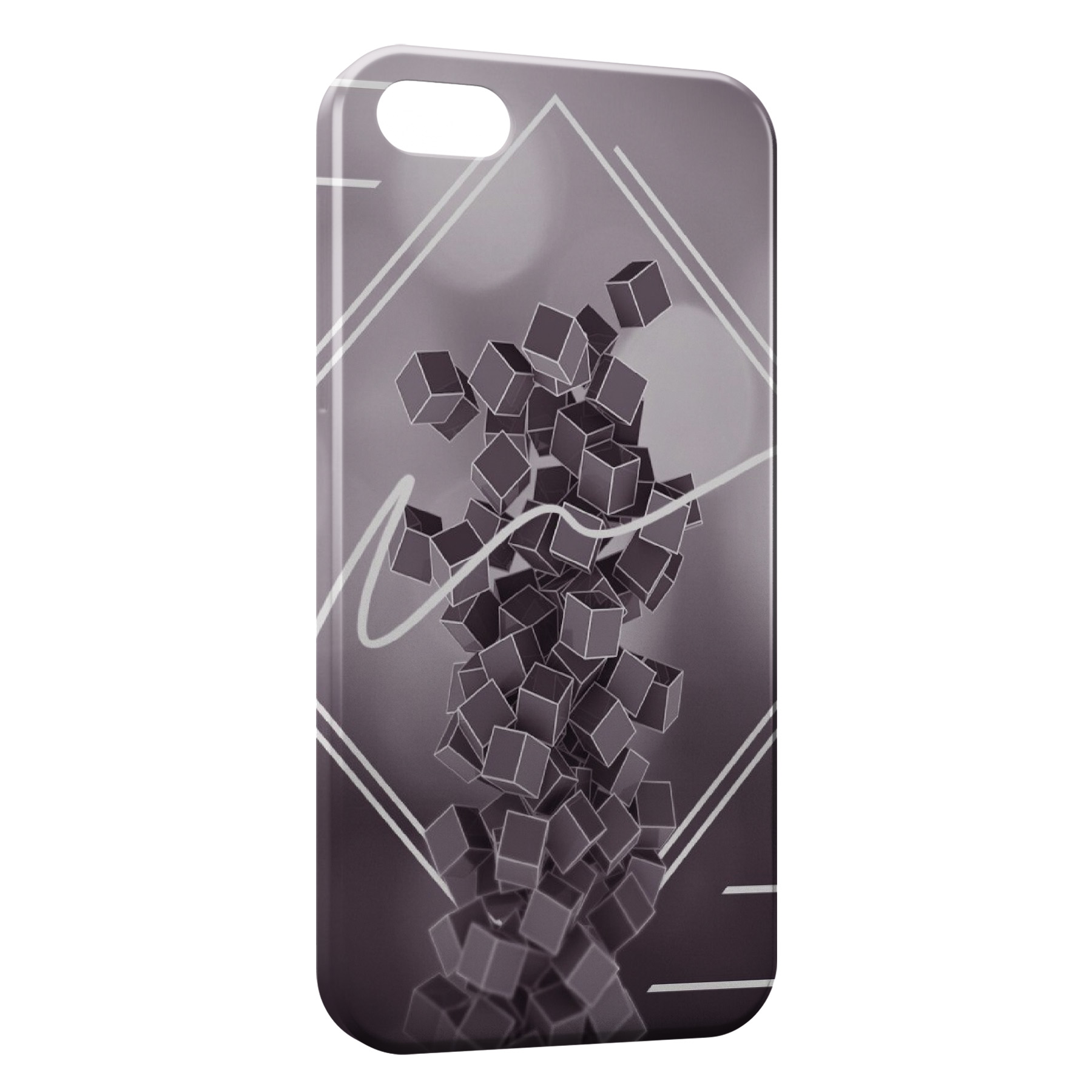 coque iphone 8 black and white abstract