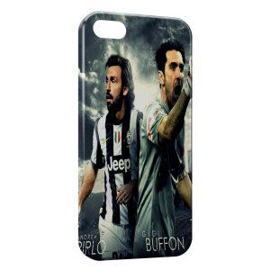 Coque iPhone 8 & 8 Plus Andrea Pirlo & GIGI Buffon Juventus