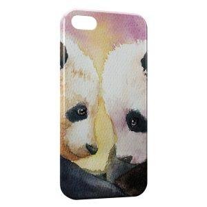 Coque iPhone 8 & 8 Plus Cute Pandas Painted