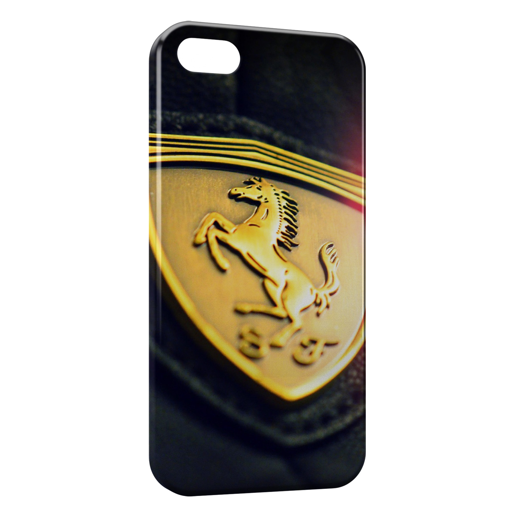 Coque iPhone 8 8 Plus Ferrari Logo Design Voiture 3