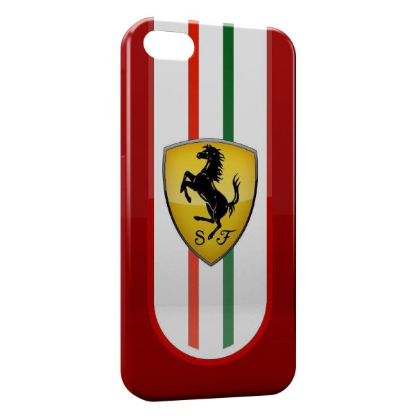 Coque iPhone 8 8 Plus Ferrari Logo Italie Cheval 600x600