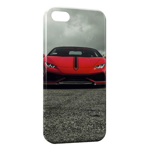Coque iPhone 8 & 8 Plus Lamborghini Rouge