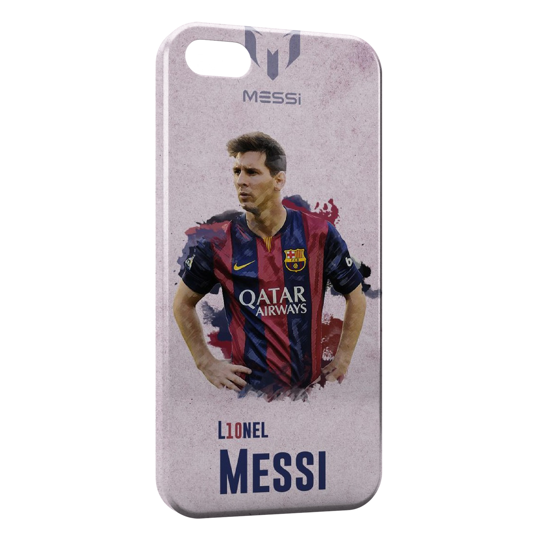 Coque iPhone 8 & 8 Plus Lionel Messi Football Barcelone