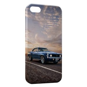 Coque iPhone 8 & 8 Plus Mustang Bleue
