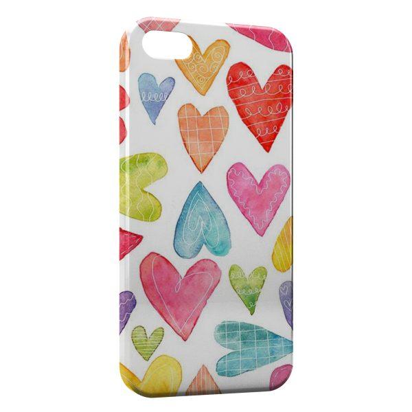 Coque iPhone 8 & 8 Plus Petits Coeurs Painted