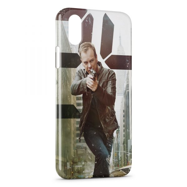 Coque iPhone XR 3D 24 heures chrono