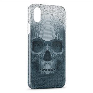 Coque iPhone XR 3D Tete de mort