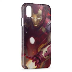 Coque iPhone XR Advengers Iron Man Red