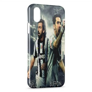 Coque iPhone XR Andrea Pirlo & GIGI Buffon Juventus
