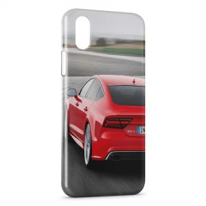 Coque iPhone XR Audi Rouge 2