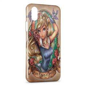 Coque iPhone XR Aurore Punk Belle au bois dormant