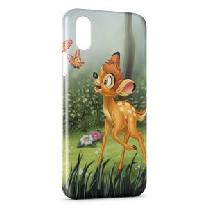 Coque iPhone XR Bambi Papillons