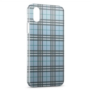 Coque iPhone XR Bleue Texture