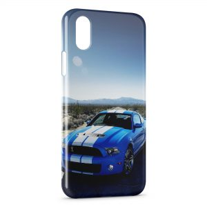 Coque iPhone XR Blue Mustang Voiture