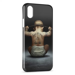 Coque iPhone XR Bébé tatoué