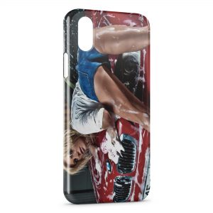 Coque iPhone XR Car Wash Girl