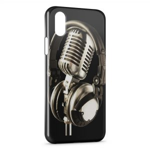 Coque iPhone XR Casque & Mic