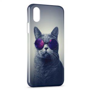 Coque iPhone XR Cat Sun Glasses