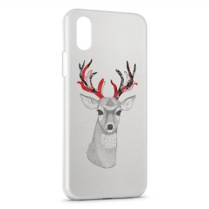Coque iPhone XR Cerf Style Design