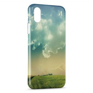 Coque iPhone XR Champs & Ciel