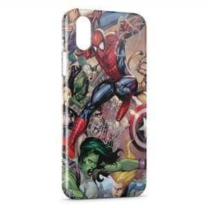 Coque iPhone XR Comics Spiderman