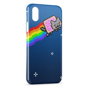 Coque iPhone XR Crazy Cat Web