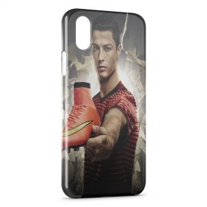 Coque iPhone XR Cristiano Ronaldo Football 50