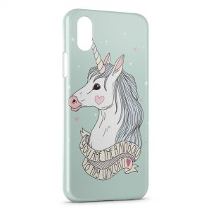 Coque iPhone XR Cute Unicorn Licorne 2