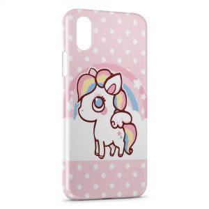 Coque iPhone XR Cute Unicorn Licorne Pink