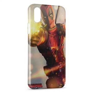 Coque iPhone XR Deadpool Gun