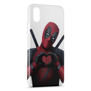 Coque iPhone XR Deadpool Love