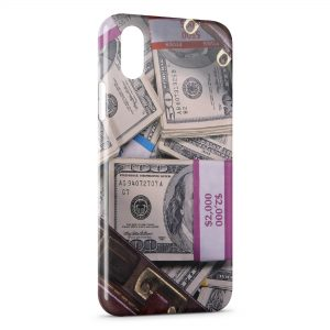 Coque iPhone XR Dollars Billets