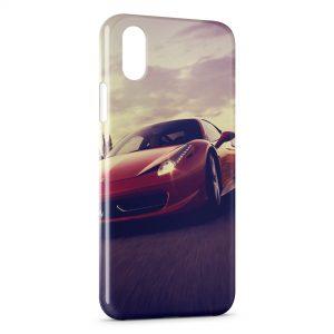 Coque iPhone XR Ferrari Rouge Voiture Design 3