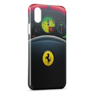 Coque iPhone XR Ferrari Volant Voiture