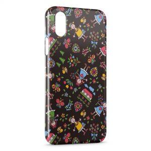 Coque iPhone XR Fleurs & poupée