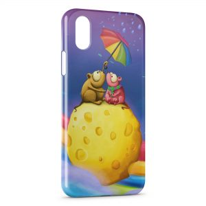 Coque iPhone XR Girly Cartoon Parapluie
