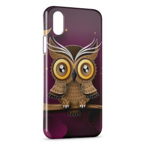Coque iPhone XR Hiboux Design