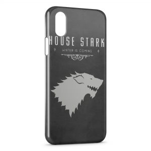 Coque iPhone XR House Stark Winter is Coming Games of Throne