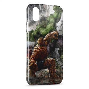 Coque iPhone XR Hulk & La Chose