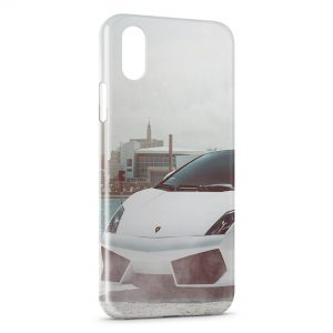 Coque iPhone XR Lamborghini Blanche