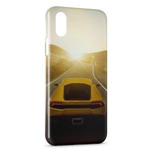 Coque iPhone XR Lamborghini rear Voiture