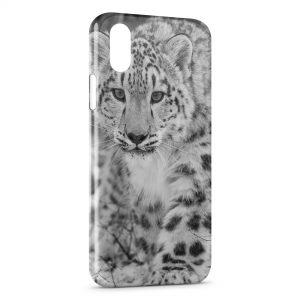 Coque iPhone XR Leopard Noir et Blanc