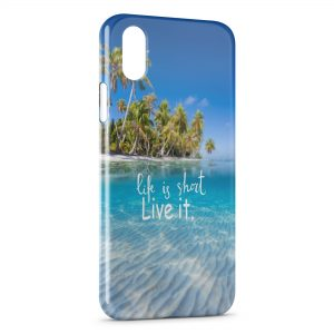 Coque iPhone XR Life is Short Live it