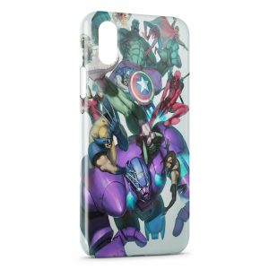 Coque iPhone XR Marvel Comics Art